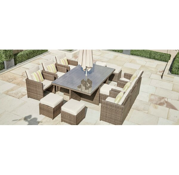 Norcross 11 Piece Dining Set with Cushions by Brayden Studio