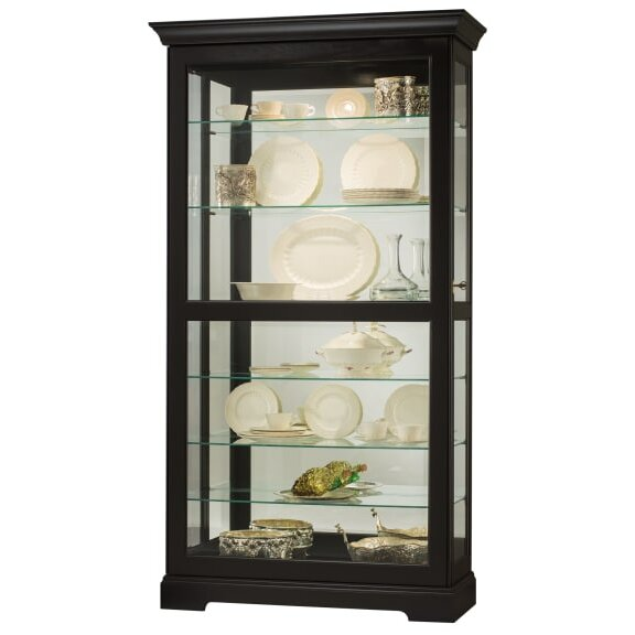 Bremer Lighted Curio Cabinet by Darby Home Co