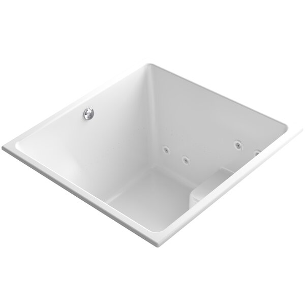 Underscore 48 x 48 Drop-in Whirlpool and BubbleMassage Air Bathtub by Kohler