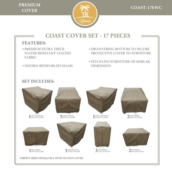 Coast Protective 17 Piece Water Resistant Patio Furniture Cover Set by TK Classics