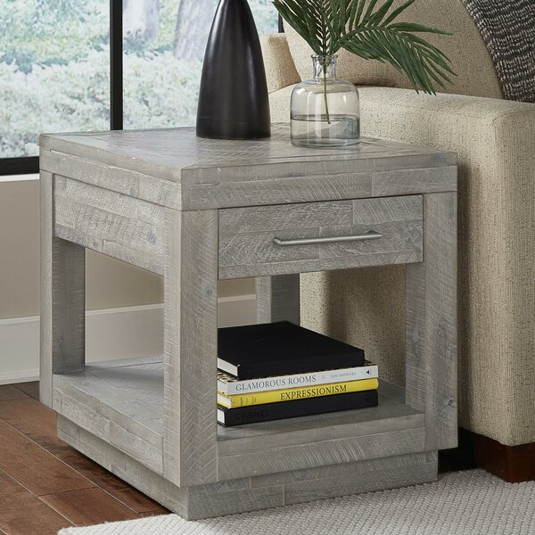 Packer Acacia Wood End Table by Williston Forge