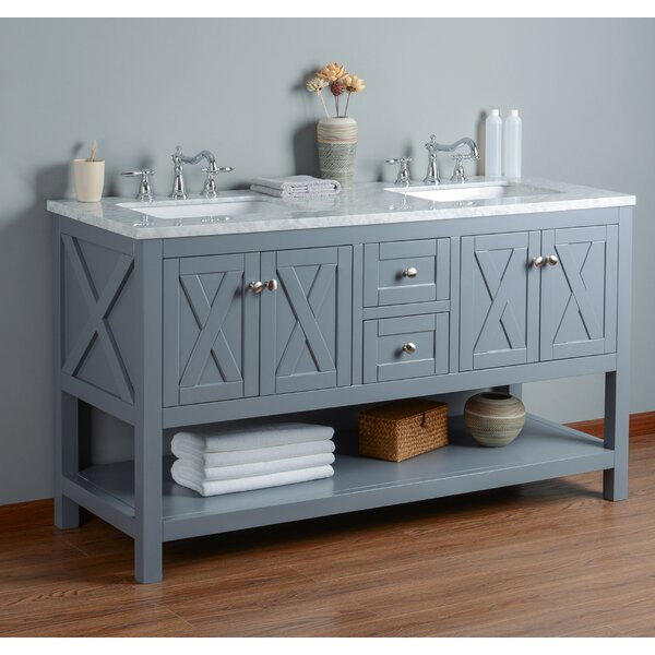 Timbrell 60 Double Bathroom Vanity Set by Lark Manor