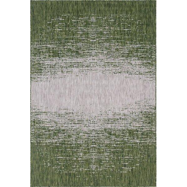 Jennette Green/Gray Indoor/Outdoor Area Rug by Wrought Studio