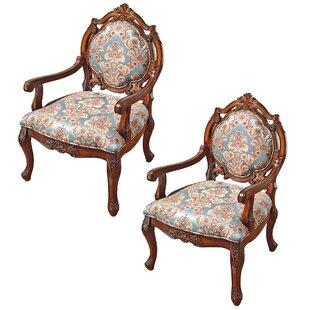 Madame De Pompadour Sitting Room Armchair (Set of 2) by Design Toscano
