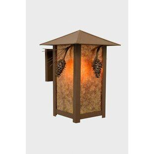 Looking for Ponderosa Pine 1-Light Outdoor Sconce By Steel Partners