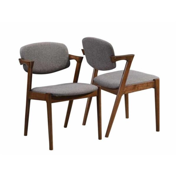 Wyckoff Upholstered Dining Chair (Set of 2) by George Oliver