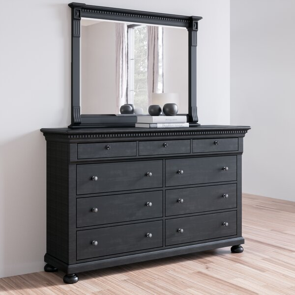 Goodwater 9 Drawer Double Dresser with Mirror by Darby Home Co