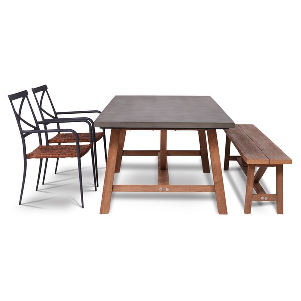 Malpass Outdoor 4 Piece Dining Set by Gracie Oaks