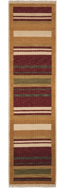 Gammons Hand-Woven Wool Brown Area Rug by Red Barrel Studio