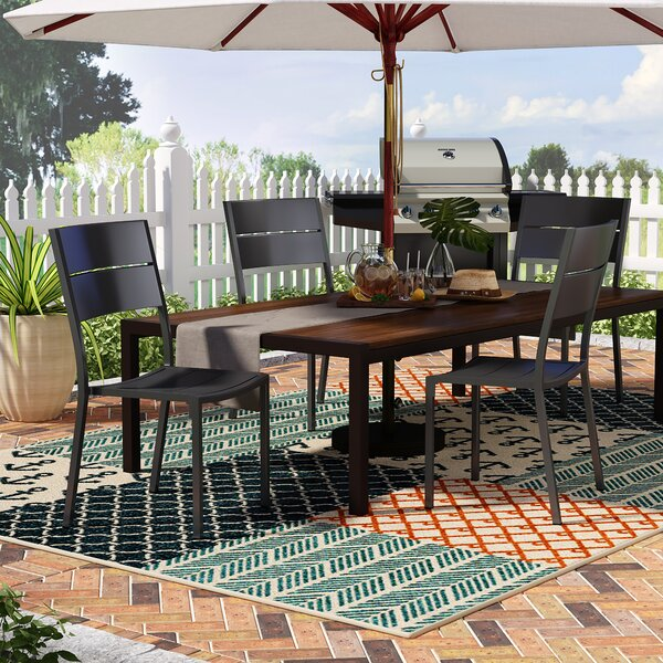Hillsdale Stacking Patio Dining Chair (Set of 4) by Rosecliff Heights