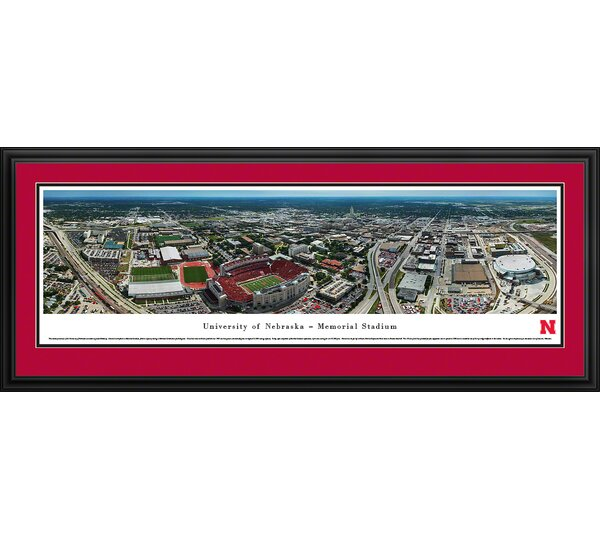 NCAA Nebraska, University of - Aerial by James Blakeway Framed Photographic Print by Blakeway Worldwide Panoramas, Inc