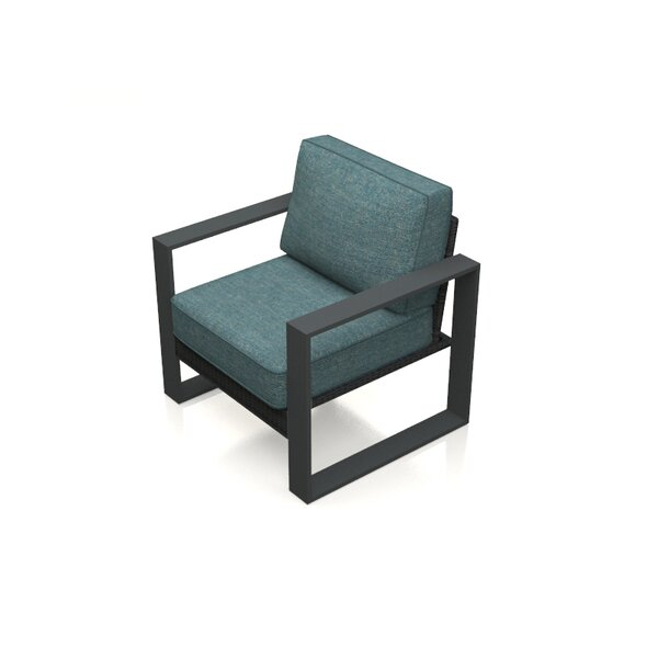 Hobson Patio Chair with Cushion by Rosecliff Heights