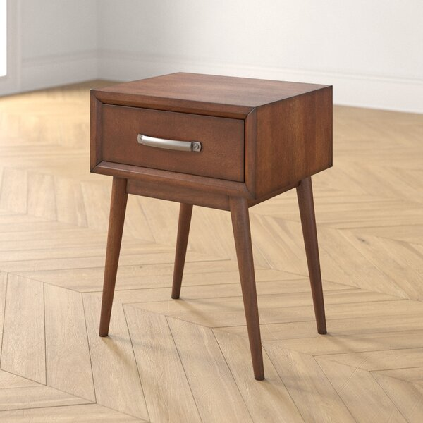 Morris Mid-Century Modern End Table With Storage By Foundstone
