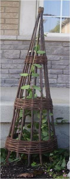 Willow Wood Obelisk Trellis by Mr. MJs