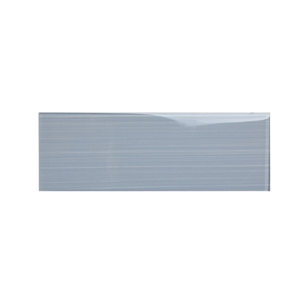 Hand Painted Series 4'' x 12'' Glass Subway Tile in Soft Gray by WS Tiles