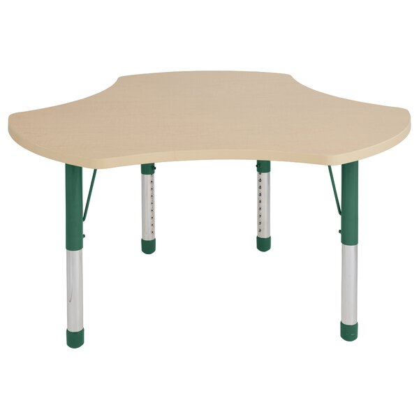 Cog Maple Top Thermo-Fused Adjustable 48 x 44.5 Novelty Activity Table by ECR4kids