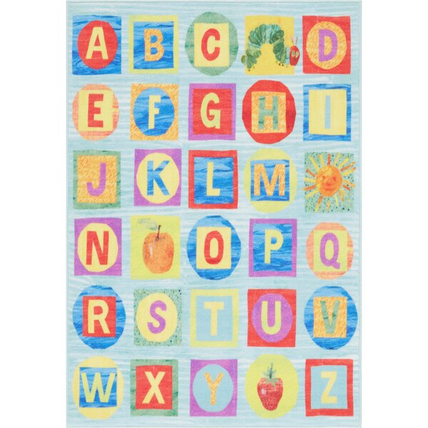 ABCs Educational Blue Area Rug by Eric Carle
