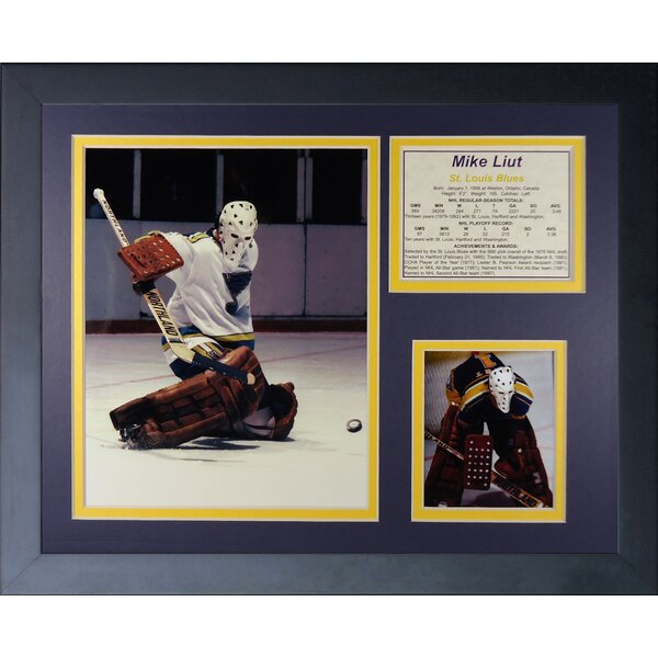 Mike Liut Framed Photographic Print by Legends Never Die