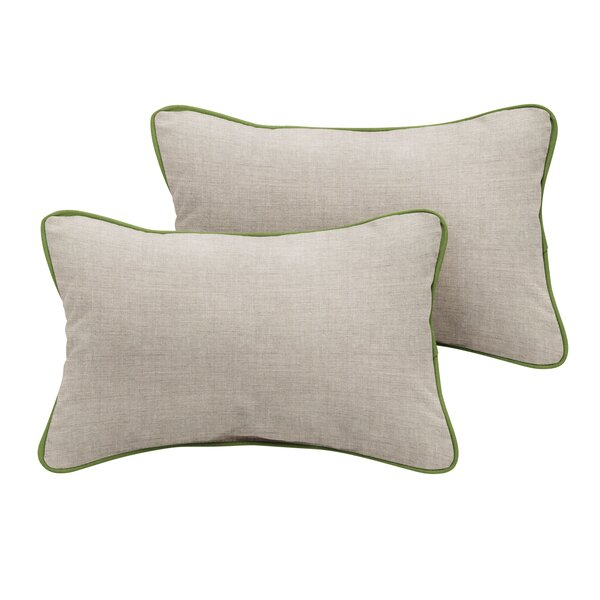 Boothbay Sunbrella Cast Outdoor Lumbar Pillow (Set of 2) by Rosecliff Heights