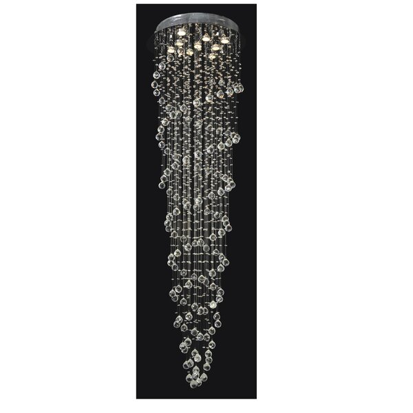 Evelina 9 - Light Unique / Statement Tiered Chandelier By House Of Hampton