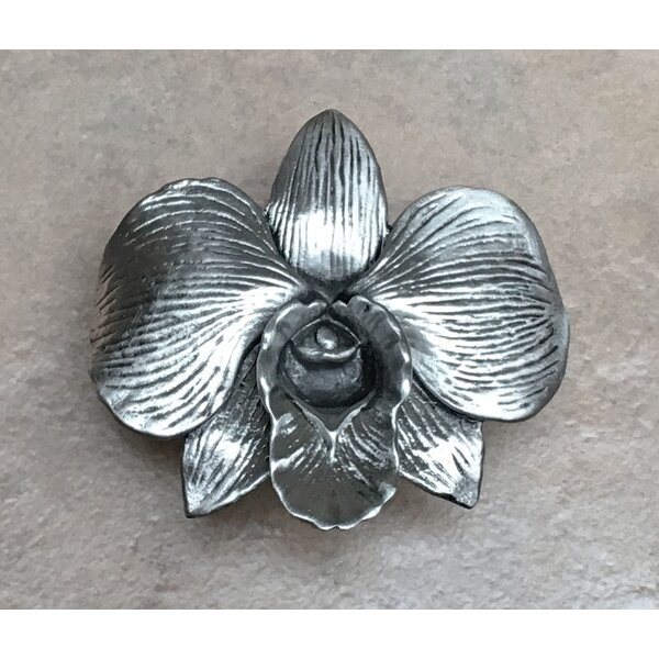 Large Orchid Flower Novelty Knob by D'Artefax