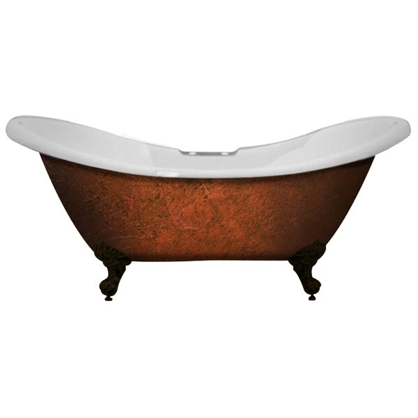 Acrylic Slipper Clawfoot 70 x 30 Freestanding Soaking Bathtub by Cambridge Plumbing