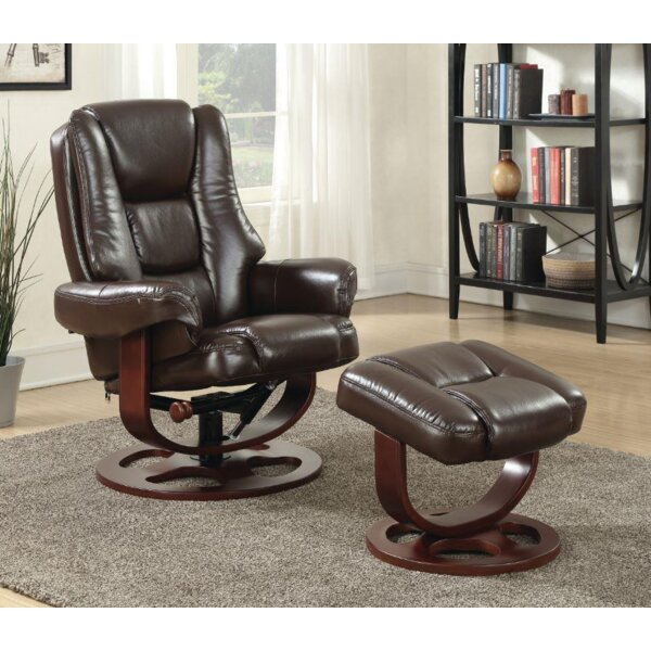 Archimbald Leaf Recliner with Ottoman [Red Barrel Studio]