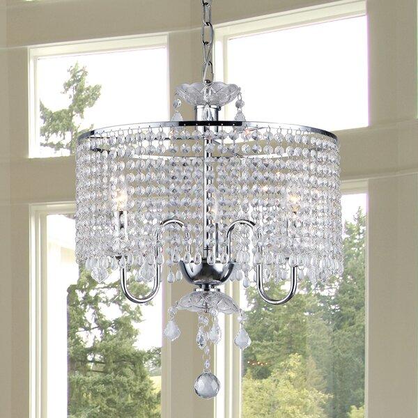 Karole 3-Light Crystal Chandelier by House of Hampton