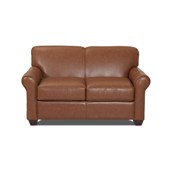 Jennifer Genuine Leather Loveseat by Wayfair Custom Upholstery��