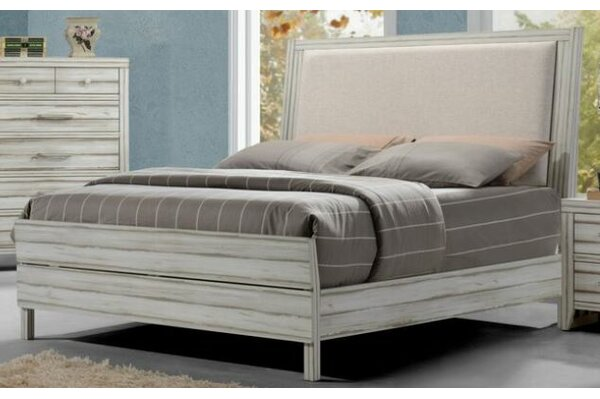 Claude Upholstered Panel Bed by Rosecliff Heights