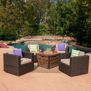 Balhi 5 Piece Rattan Conversation Set with Cushions ByGracie Oaks