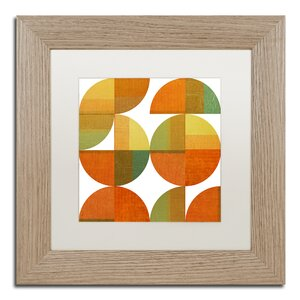 Four Suns Quartered 2.0 by Michelle Calkins Framed Painting Print by Trademark Fine Art