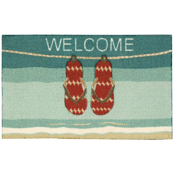 Gwendoline Blue/Red Area Rug by Highland Dunes
