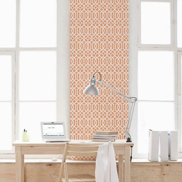 Trellis 48 x 24 Satin Peel and Stick Wallpaper Tile by Wallums Wall Decor