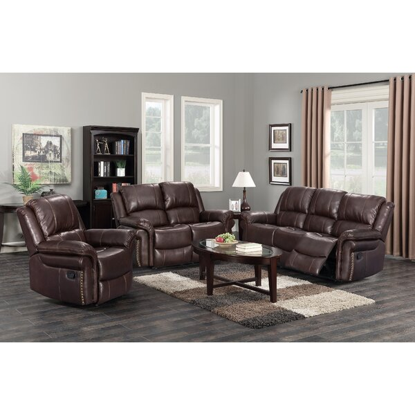Monteith 3 Piece Leather Reclining Living Room Set By Winston Porter Cool
