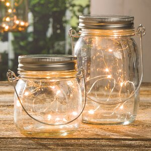 Decorative Clear Glass Mason Jar