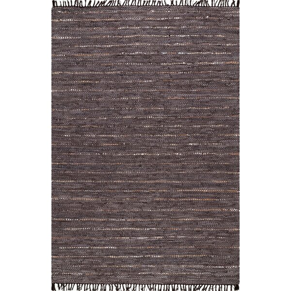 Mannino Hand-Woven Brown Area Rug by Union Rustic