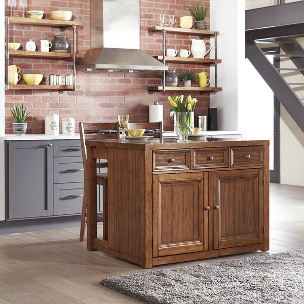 Milford Kitchen Island Set by Canora Grey