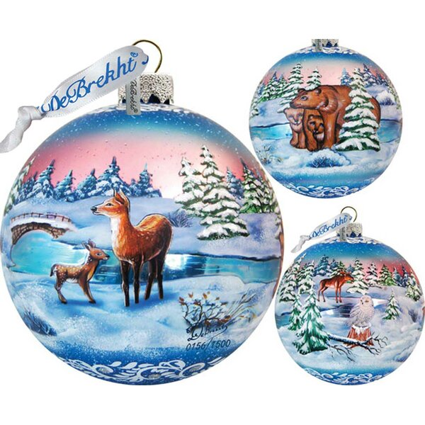 Limited Edition Snowy Night Glass Ball Ornament by The Holiday Aisle