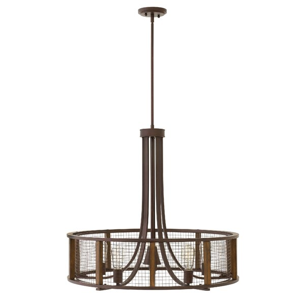 Fifi 5 - Light Shaded Drum Chandelier By 17 Stories