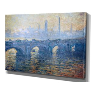 'Waterloo Bridge' by Claude Monet Framed Painting Print by Wexford Home