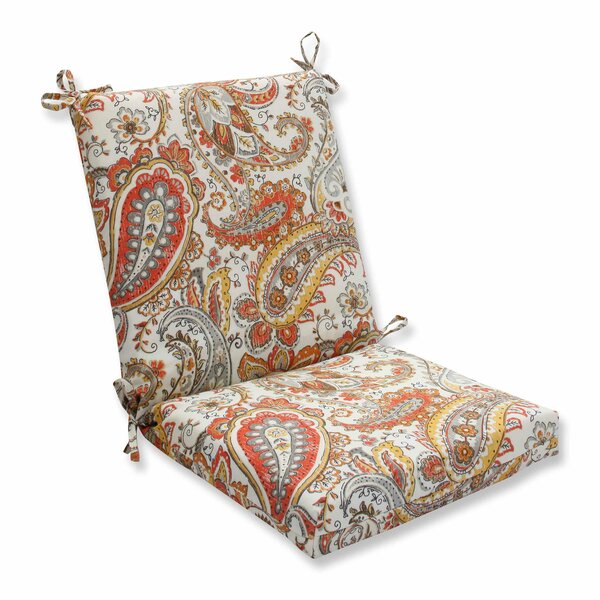 Hadia Sunset Indoor/Outdoor Dining Chair Cushion by Pillow Perfect