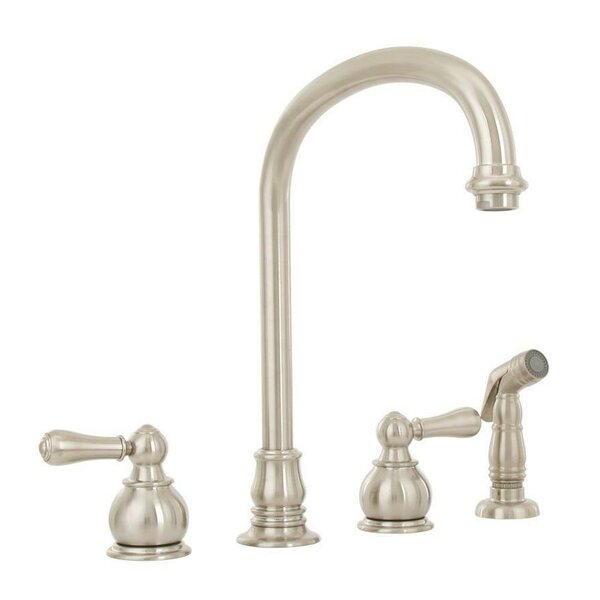 Hampton Double Handle Gooseneck Standard Kitchen Faucet by American Standard