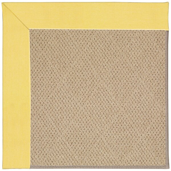 Lisle Machine Tufted Yellow/Brown Indoor/Outdoor Area Rug by Longshore Tides