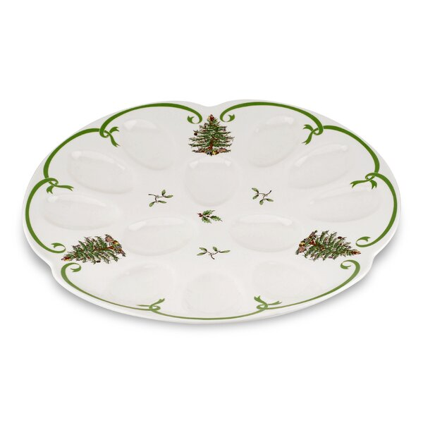 Christmas Tree Serve Devilled Egg Dish by Spode