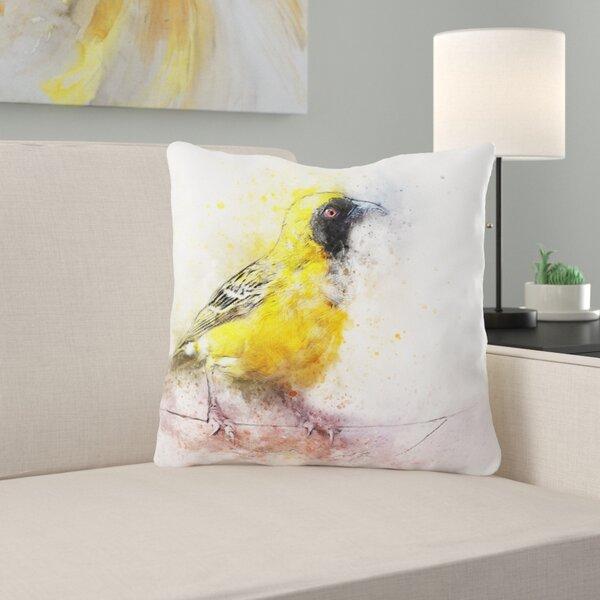 Mager Bird Throw Pillow