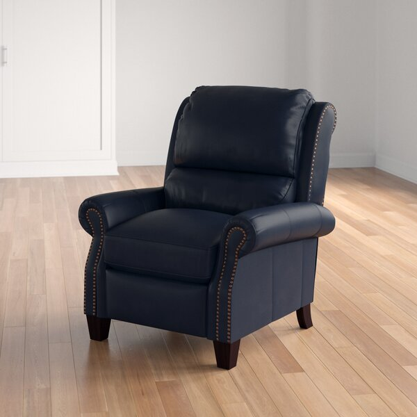 Tavon Leather Manual Recliner By Three Posts