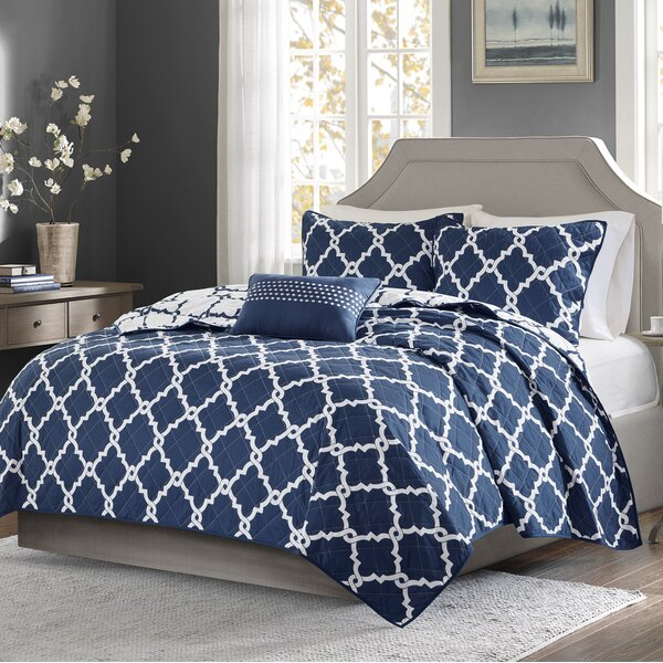Alta 4 Piece Reversible Coverlet Set by Zipcode Design