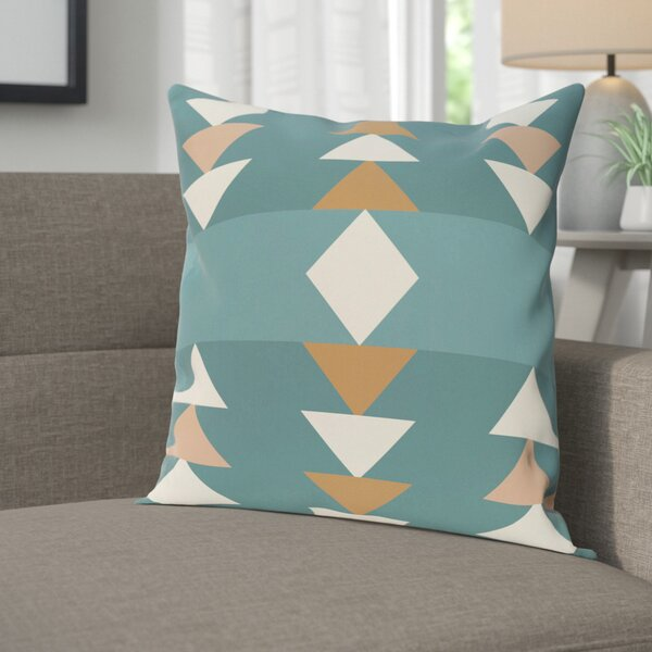 Blick Geometric Print Outdoor Throw Pillow by Langley Street