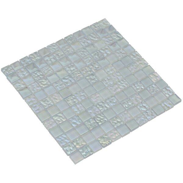 Bella 12 x 12 Glass Mosaic Tile in Aquamarine by Mirrella